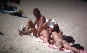 Beach spy cam caught naked girls