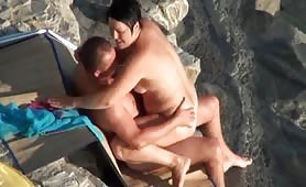 Nudist mature couple teasing before fucking